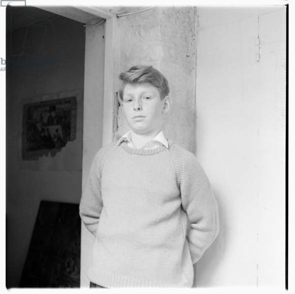 Unknown boy, c.1955 (b/w photo)