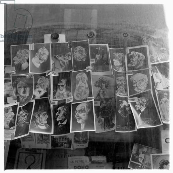 Image of erotic prints of faces in style of Arcimboldo, Paris, early early 1950's
