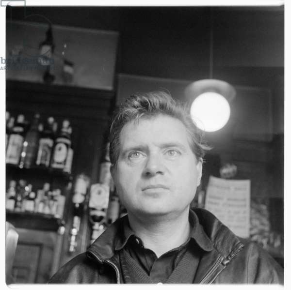 Portrait of Francis Bacon in a Soho pub, London, late early 1950's