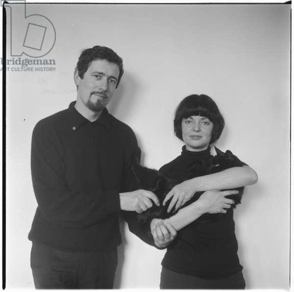Sue & John Paine, London, UK, mid 1950's (b/w photo)