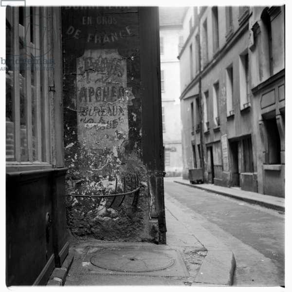 Paris street, c.1955 (b/w photo)