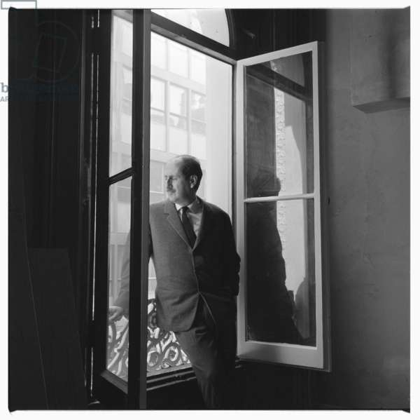 Moreni, portrait of man of unknown details, late 1950's (b/w photo)