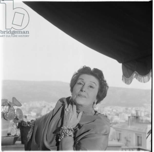 Katina Paxinou, c.1955 (b/w photo)