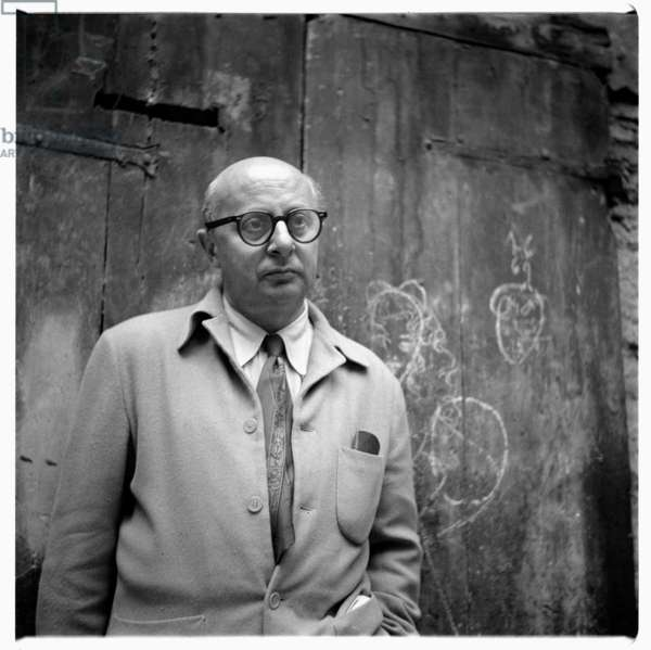 Eugene Berman in Italy, c.1955 (b/w photo)