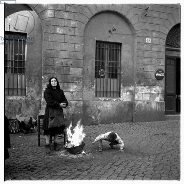 Rome street, c.1951-54 (b/w photo)