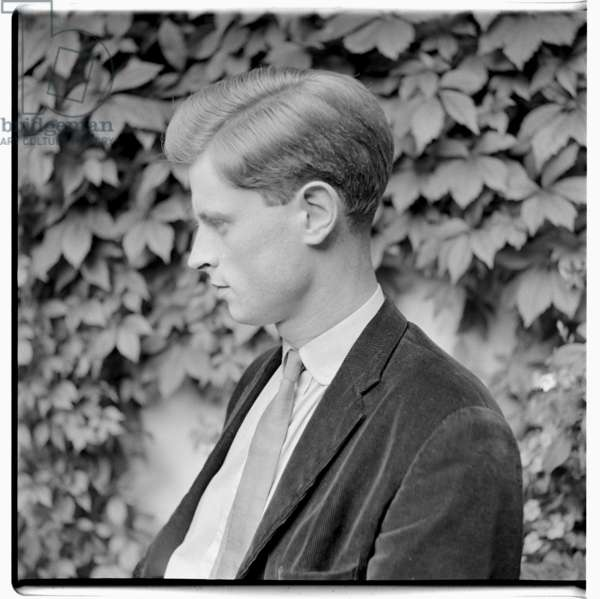 Portrait of Simon Blow, writer, grandson of Detmar Blow, relative by marriage of Isabella Blow, London, early 1960's (b/w photo)