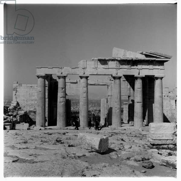Image of the Acropolis of Athens, Greece, early early 1950's