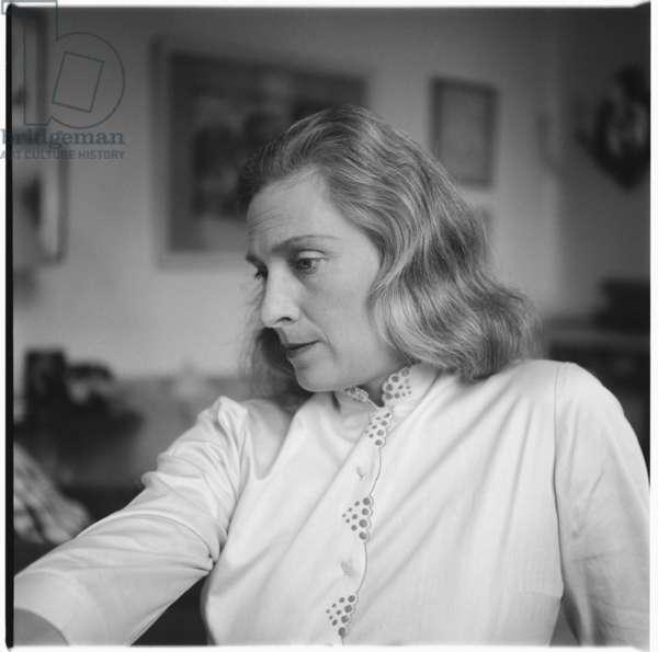 Rose McLaren, aristocrat, Soho habitue, friend of Francis Bacon and florist to Princess Margaret, mid 1950's (b/w photo)