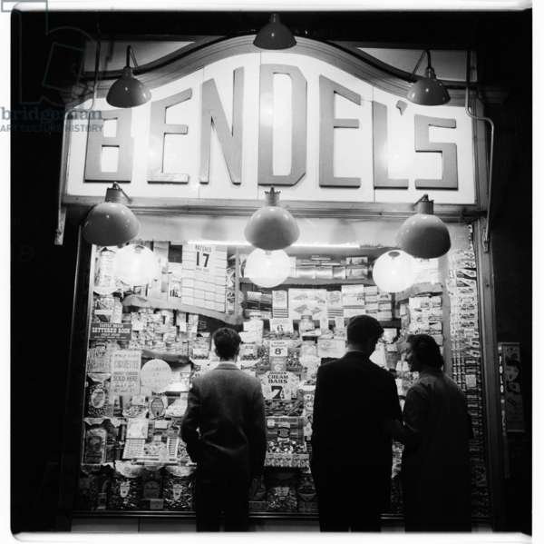 London at Night, Bendel's, images from a night walk round central London 1956