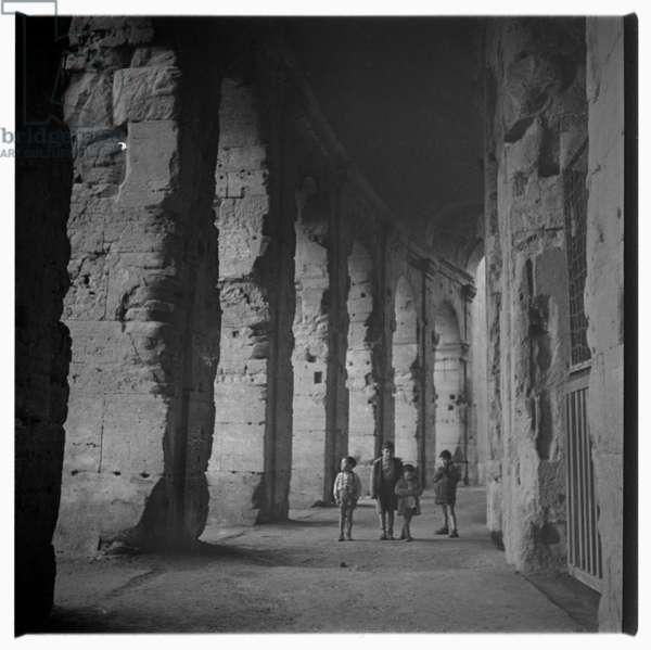 Children in Rome, c.1955 (b/w photo)