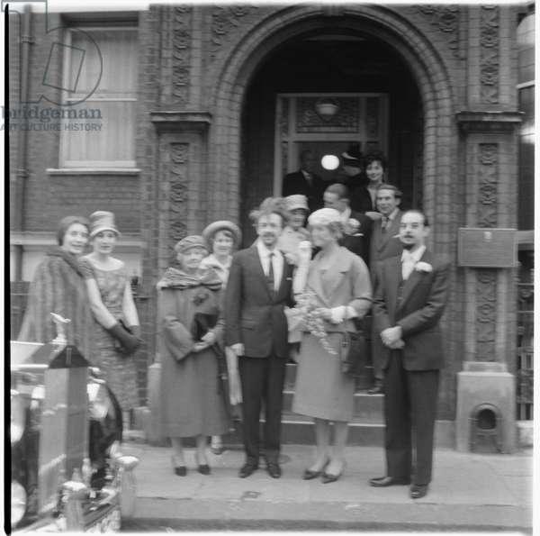 Lauraine's Wedding, mid 1950's, UK (b/w photo)