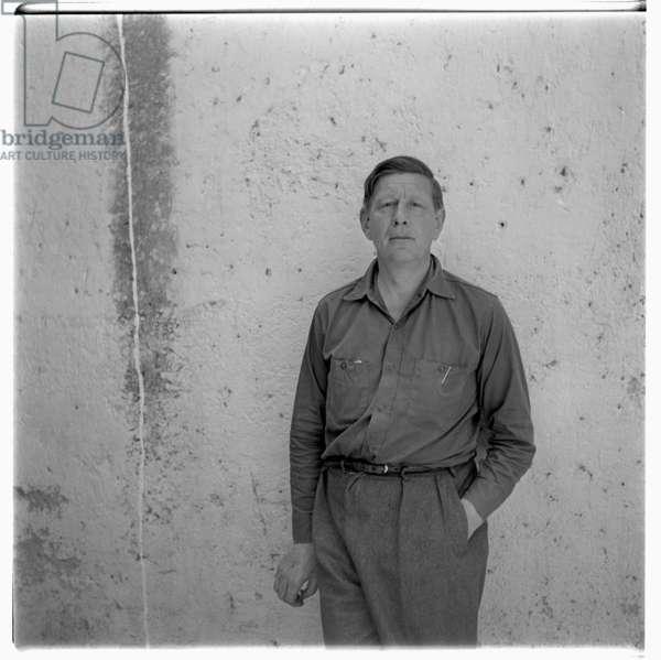 W.H.Auden in Ischia, c.1960 (b/w photo)