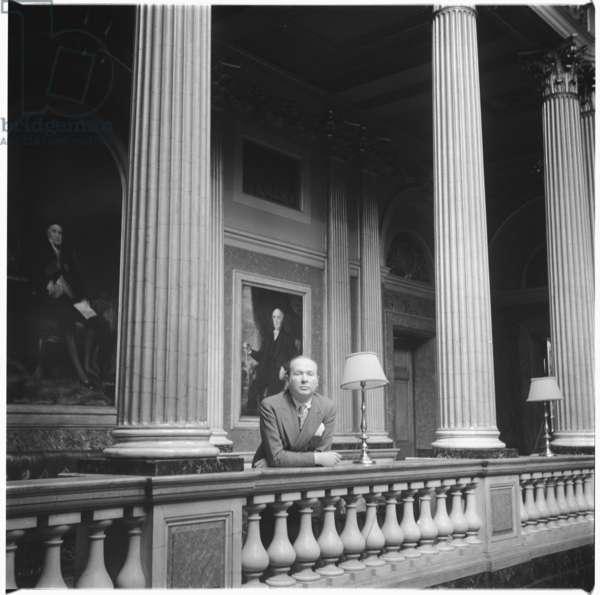 John Raymond, c.1955 (b/w photo)