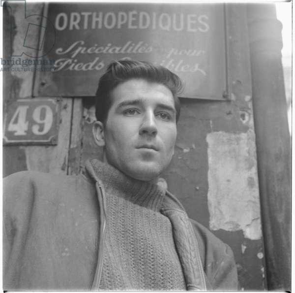 Unknown man in Paris, c.1955 (b/w photo)