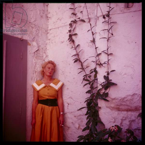 Caitlin Thomas, c.1955 (colour photo)