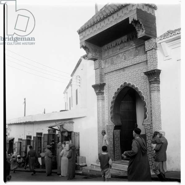 A religious temple in Tangier, early 1960's (b/w photo)