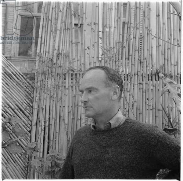 """Peter Mayne in Tangiers, portrait of English travel writer author of A Year in Marrakesh"""", Tangiers, mid 1950's (b/w photo)"""