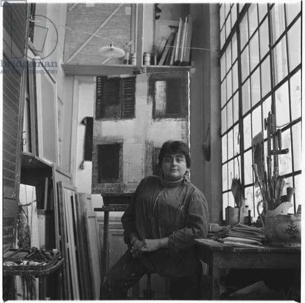 Gicca (artist), mid 1950's (b/w photo)