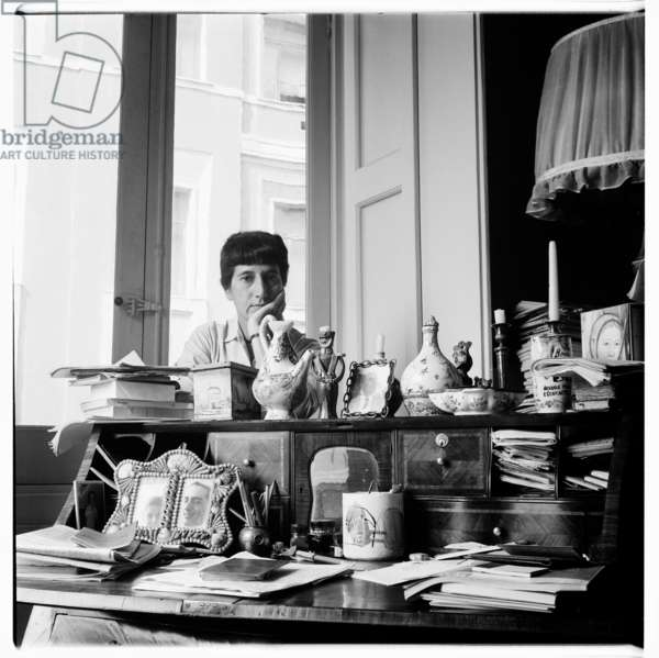 Portrait of unknown person, perhaps Eike or Erika, in Italy mid 1950's (b/w photo)