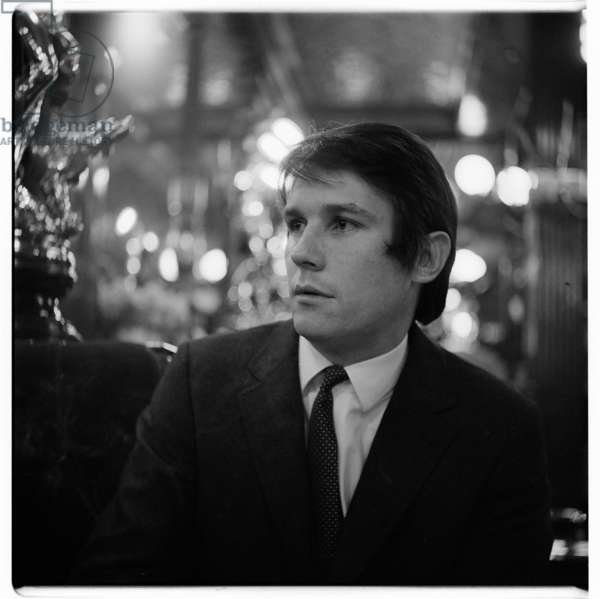 Portrait of a man of unknown details, possibly in the Salisbury pub St Martins lane, London, early 1960's (b/w photo)