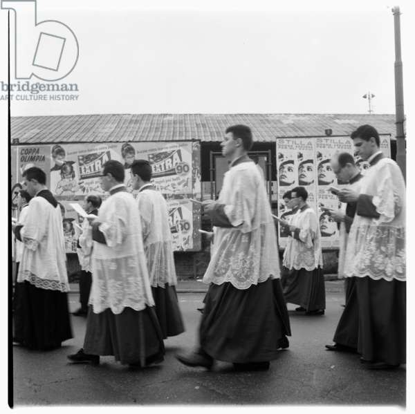 Religious parade, possibly Genoa, c.1955 (b/w photo)