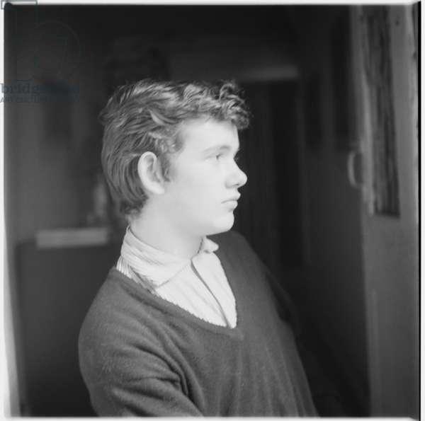 Michael Portman, portrait of socialite, husband of Suna Portman, member of Chelsea-set, Londonmid 1950's (b/w photo)