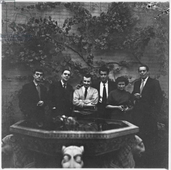 Declaration Group of writers at the launch of the anthology, 1957 (b/w photo)