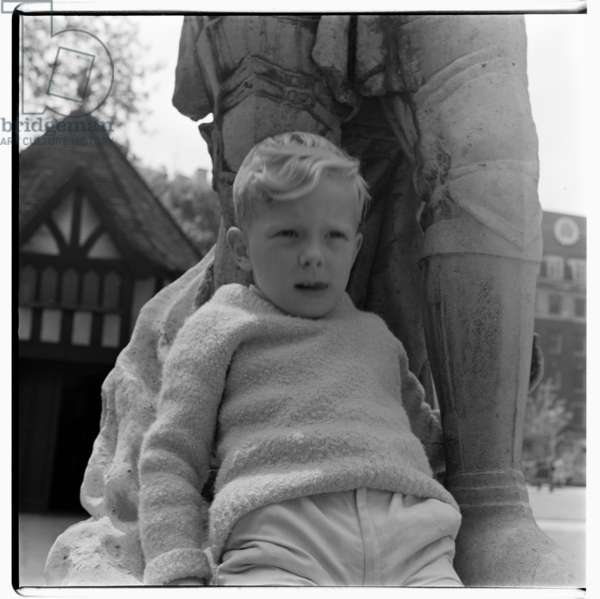 Unknown boy in Soho Square, c.1955 (b/w photo)