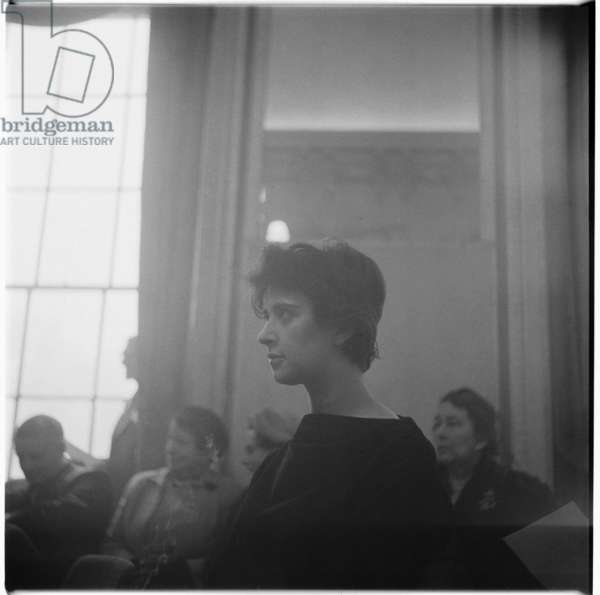 Shelagh Delaney at prize-giving, c.1959 (b/w photo)