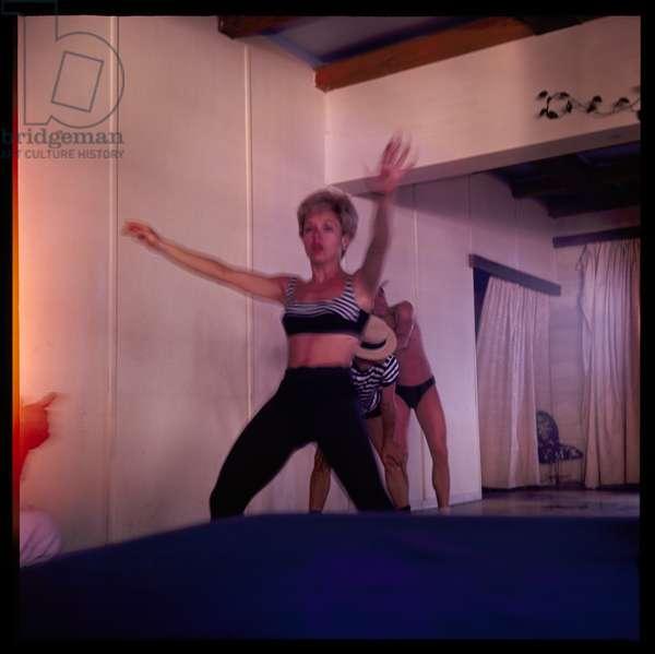 Dance class, Greece, c.1965 (colour photograph)