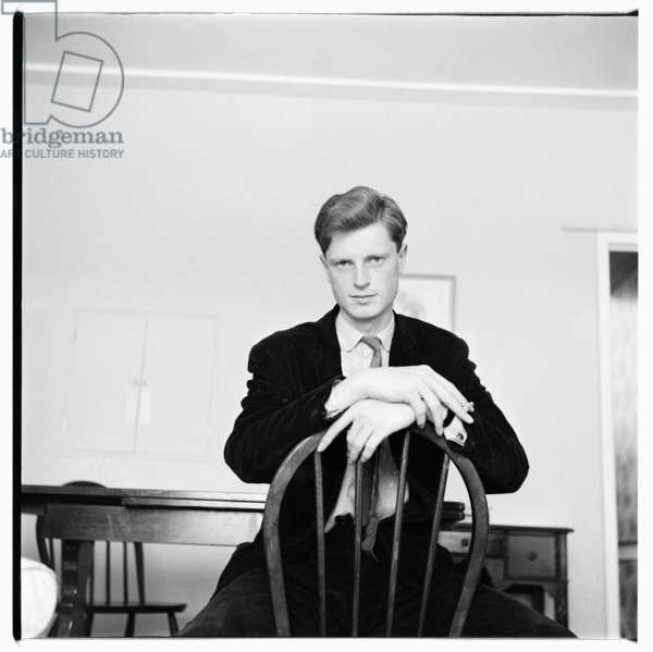 Portrait of Simon Blow, writer, grandson of Detmar Blow, relative by marriage of Isabella Blow, London, early 1960's