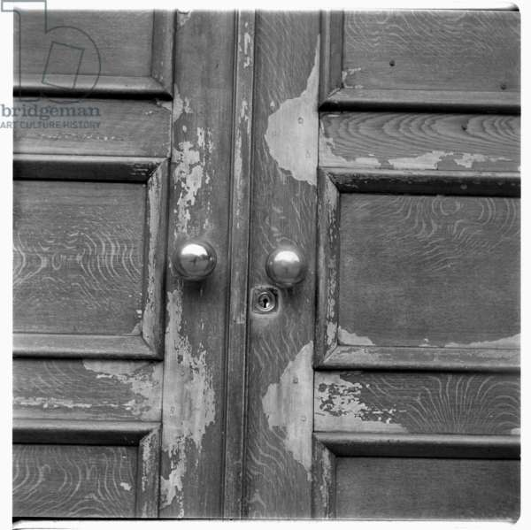 Paris door, c.1951-54 (b/w photo)