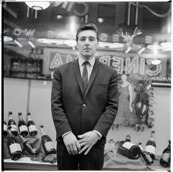 George Dyer, Soho, London, UK, mid 1960's (b/w photo)