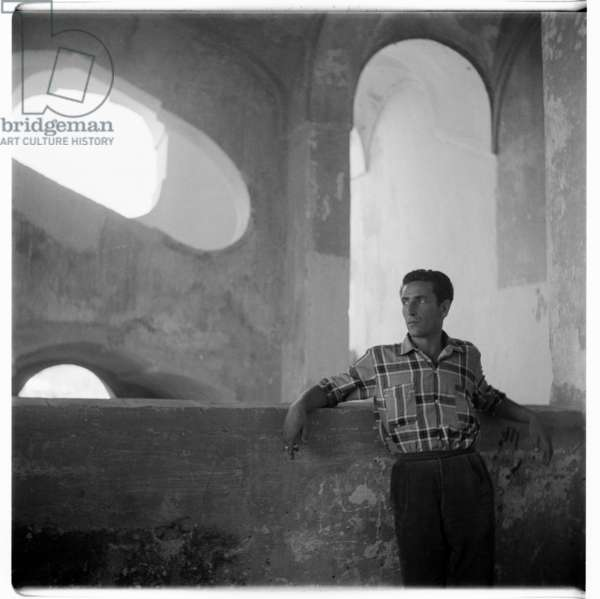 Man in Genoa, c.1960 (b/w photo)