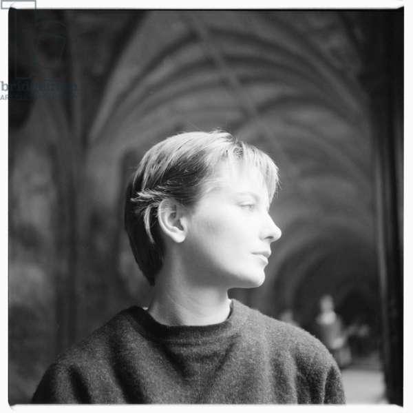 Jacqueline Ellis, portrait of actress and first wife of Jeffrey Bernard, Soho London, mid 1950's (b/w photo)