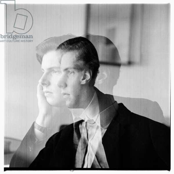 Portrait of unknown man, London, early 1960's (b/w photo)
