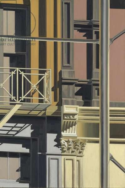 Scaffolding II (oil on canvas)