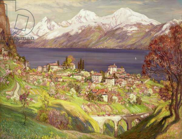 Lake Como (oil on canvas)