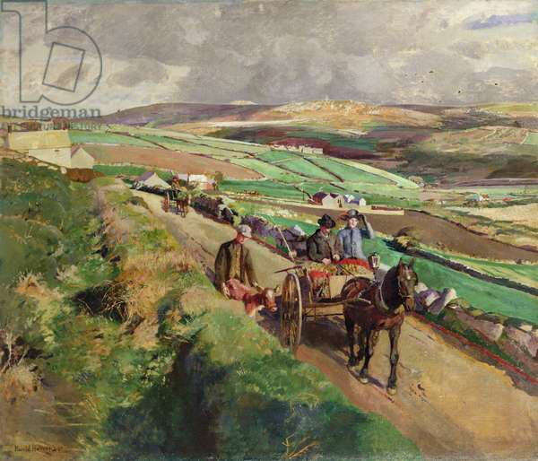 The Road to Market, 1924 (oil on canvas)