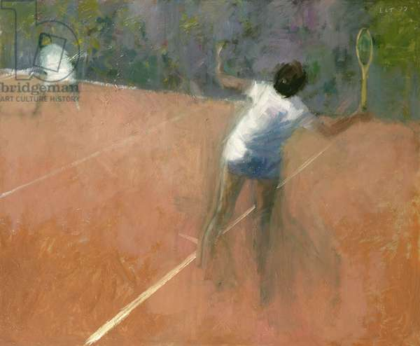 Serving for the Match, 1977 (oil)