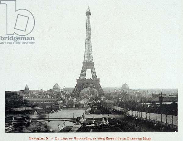 1889 Universal Exhibition: Panorama, Trocadero Park, Eiffel Tower and Champ de Mars - The 1889 Exhibition Album - Paris by Gluck