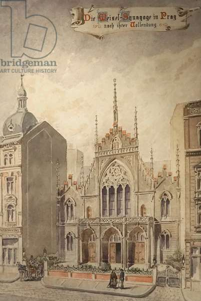 The Weisel Synagogue, Prague (drawing)