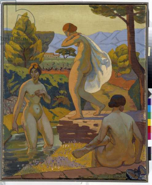 The Three Bathers, 1925 (oil on canvas)