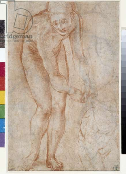 Study for the Pieta. Drawing by Jacopo (Iacopo) Carrucci dit il Pontormo (Pontormo) (1494-1556), 16th century Musee des Beaux Arts, Palais Longchamp Marseille