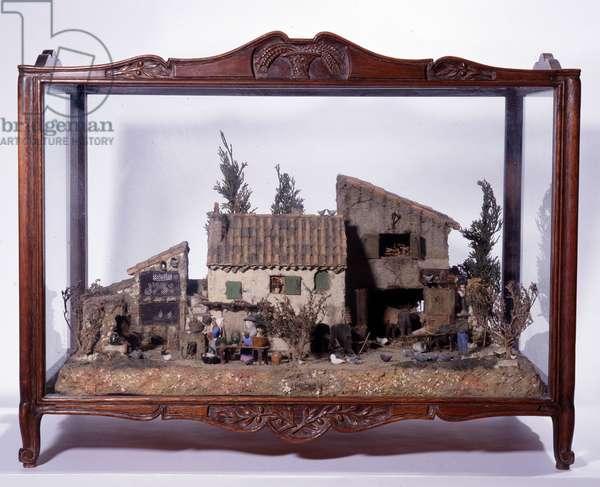 """Farm Lou Darbous"""""""" Anonymous wooden model. Dim. 49x64x42 cm Mandatory mention: Collection fondation regards de Provence, Marseille"""