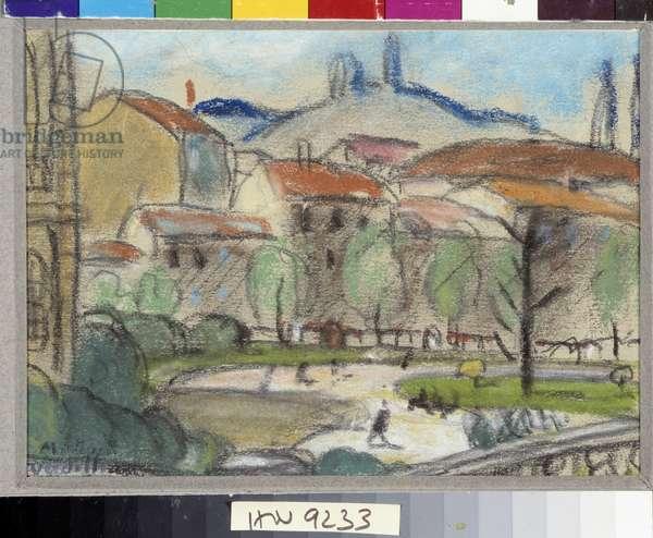 The Pastel public garden by Louis Mathieu Verdilhan (1875-1928) Mandatory mention: Collection foundation regards de Provence, Marseille