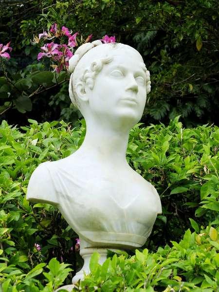 Trois Ilets, Domaine de la Pagerie, Bust of Josephine de Beauharnais - Martinique, island of the French Antilles