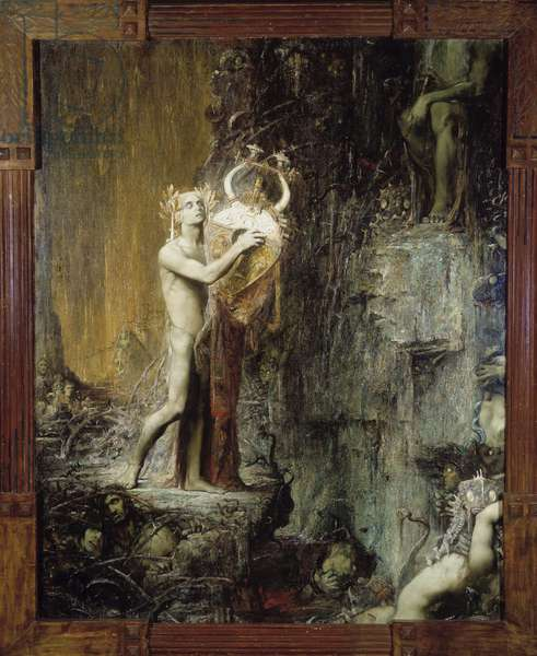 "Orphee aux Hell Illustration for the opera """" Orfeo"""" by Monteverdi. Painting by Pierre Amedee Marcel Beronneau (Pierre-Amedee Marcel-Beronneau) (1869-1937) 1897 Musee des Beaux Arts, Palais Longchamp, Marseille"