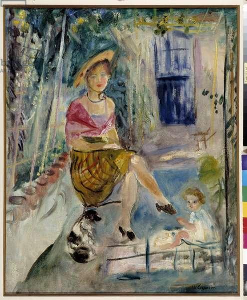 Under the arbor at Saint Tropez, 1942 (oil on canvas)