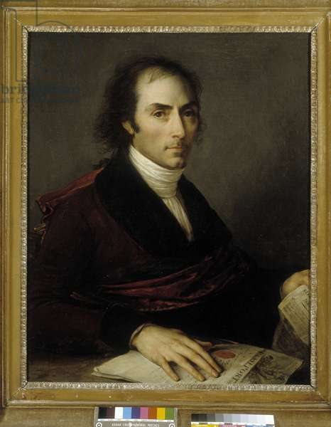 Portrait of Francois Bruguiere. Painting by Baron Antoine Jean Gros (1771-1835). Oil on canvas, 1796. Musee des Beaux Arts - Palais Longchamp, Marseille.